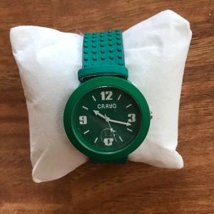 Crayo Teal Watch with leather band